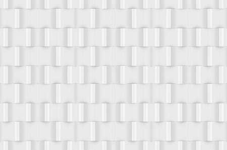 3d rendering. seamless modern white sqaure brick pattern wall design texture background. Stock fotó