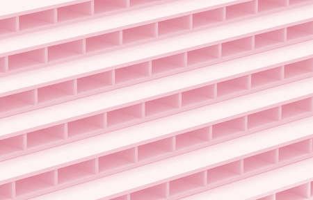 3d rendering. sweet soft pink color tone brick stack design wall background. Stock fotó