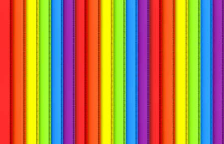 3d rendering. Parallel LGBT vertical rainbow panel future board wall design background. Stock fotó