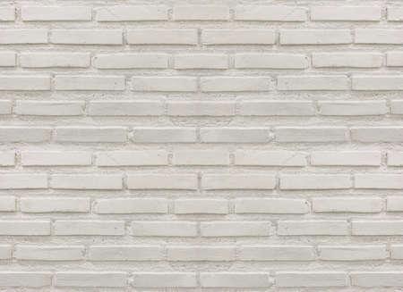 minimal white brick textured wall for light tone vintage interior design background.
