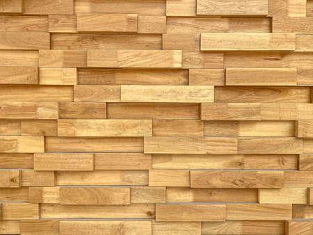 brown hardwood brick block shape pattern design wall background.