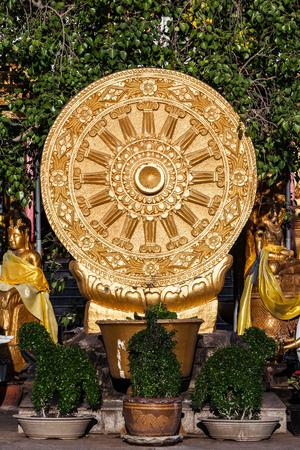 dhamma: Wheel of Dhamma flags in public area