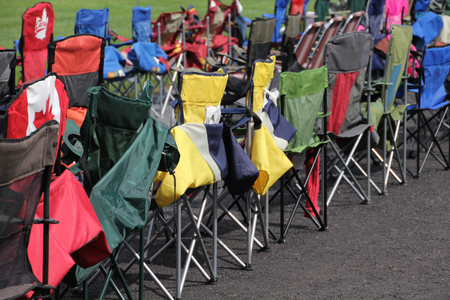 Colourful folding chairs... photo