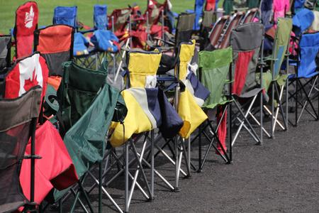folding: Colourful folding chairs...