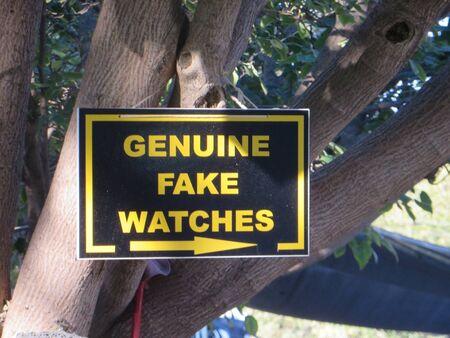 Genuine Fake Watches sign