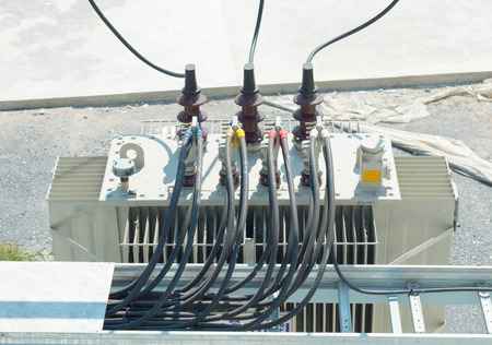 elektrische transformator Stockfoto