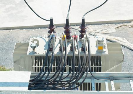 Electric transformer Foto de archivo