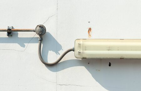 junction pipe: electrical junction box with galvanized conduit pipe connection