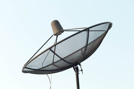 airwaves: Satellite dish with sky on roof