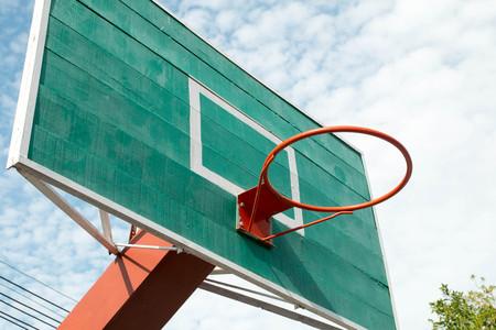 intramural: Basketball hoop Stock Photo