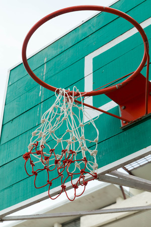 b ball: Basketball hoop Stock Photo