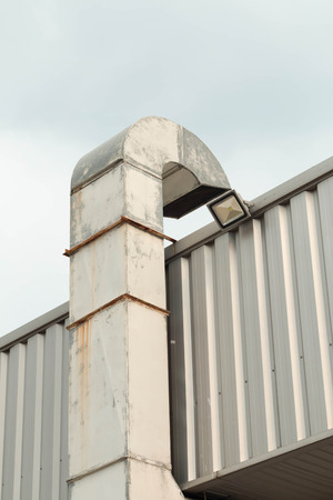 ventilate: Ventilation system of factory.