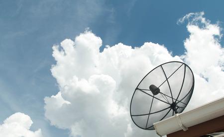 sattelite: Satellite dish on the roof Stock Photo
