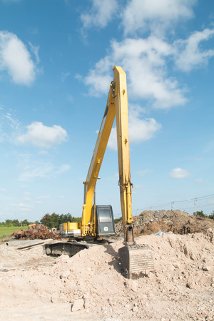 earth moving: excavator in action