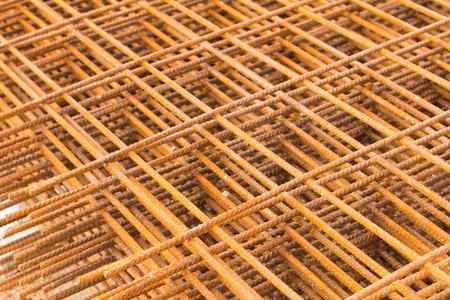 rusting: Reinforcing steel bars for building armature