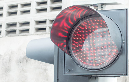 standstill: a traffic light with red light. symbolic photo for maintenance, economy, failure