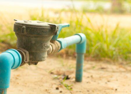 sensing: Water meter Stock Photo