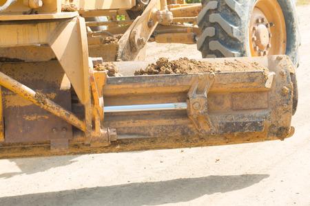grader: Grader is working on road construction