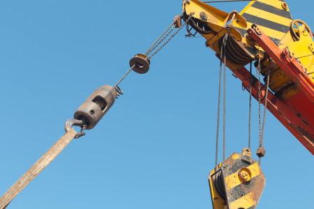 jib: Industrial Crane Stock Photo