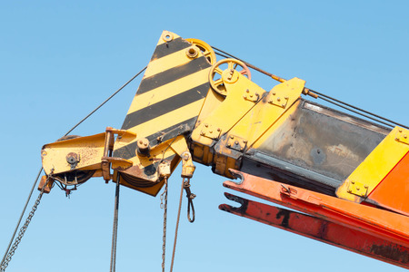 maneuverable: Industrial Crane Stock Photo