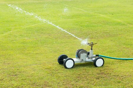 water sprinkler: The water sprinkler with a field goal.