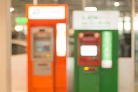 cashpoint: Blurred image of atm machines