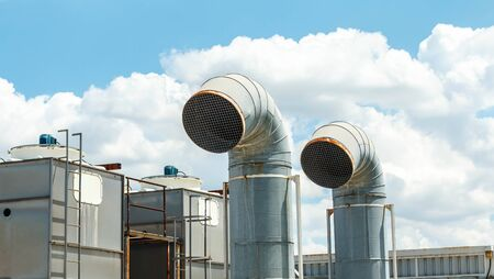 aeration: Ventilation system of factory.
