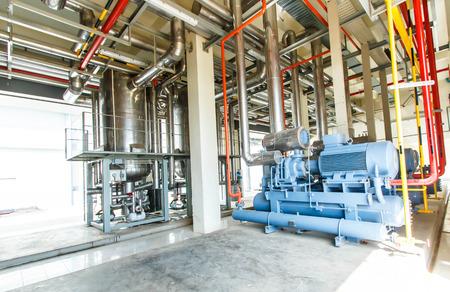 제조 공장의 산업용 압축기 냉동 공장