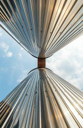 Industriële silo's voor voedselproductie, door roestvrij staal