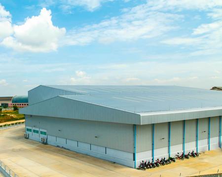 商業建築の金属の屋根ふきの建築ディテール