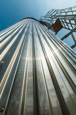 Industrial Factory silos for food production, by stainless steel