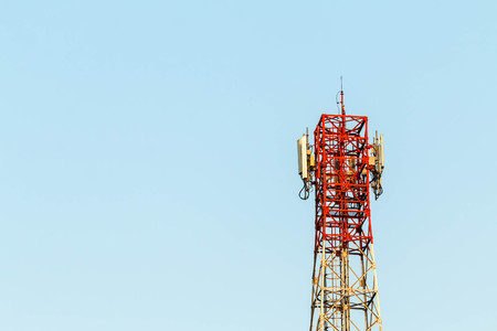 Telecommunications equipment - directional mobile phone antenna dishes. Wireless communication Communication Technology.