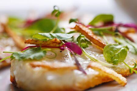 fresh fish: Gourmet meal