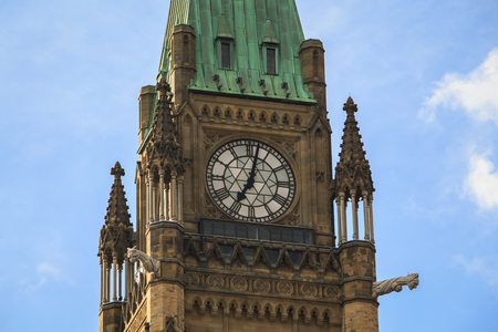 Peace Tower on a sunny Canada Day Stock Photo