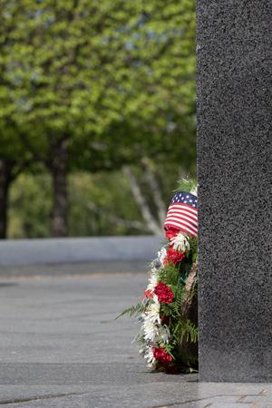 Floral arrangement at the Korean War Memorial in Washington DC