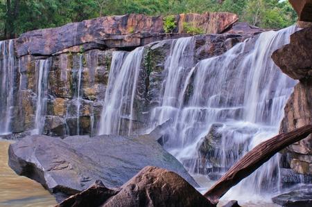 cataract waterfall: Tad Ton National Park, Chaiyaphum, Thailand.