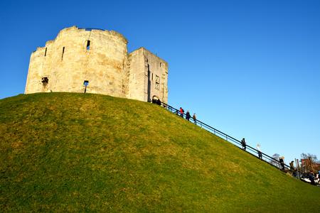side of York castle,York,UK,January 8,2015
