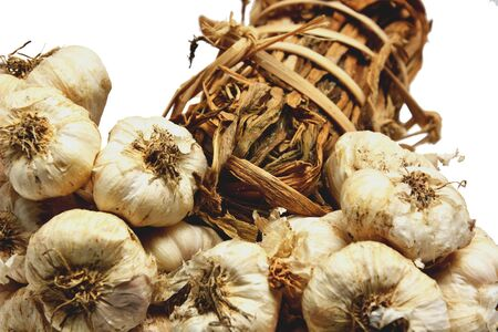 asian flavors: Thai garlic with white background