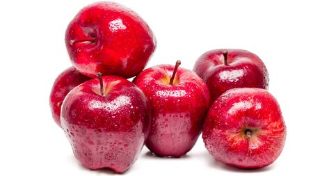 Red apple isolated on white background Stockfoto