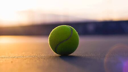 tennis ball in tennis court Stock fotó