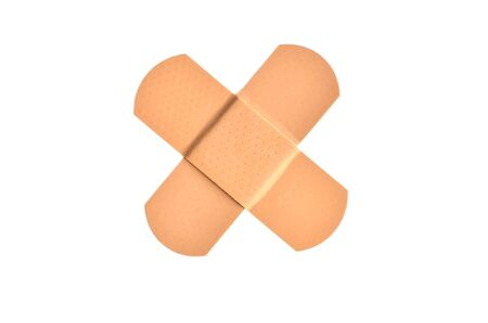 Wound closure  Medical plaster Stock Photo
