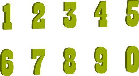 color numbers style vector, math,vector,cute.