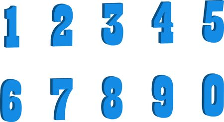color numbers style vector, style,funny,illustration.