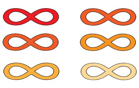infinity sign on white background 写真素材 - 146941398