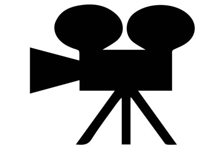 movie icon on white background