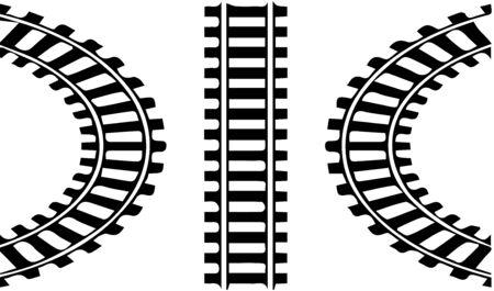 Eisenbahnlogo auf weißem Hintergrund Logo
