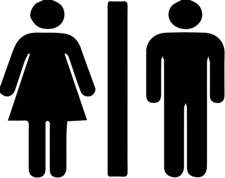 male and female icon.toilet sign vector Векторная Иллюстрация