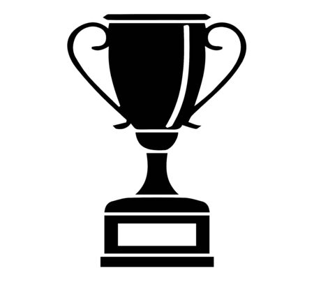 honor cup icon on white background