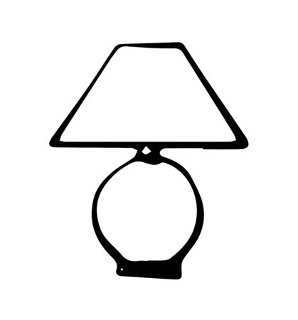lamp icon on white background Banque d'images - 146942255
