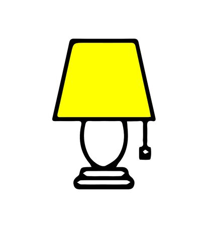 lamp icon on white background Illustration